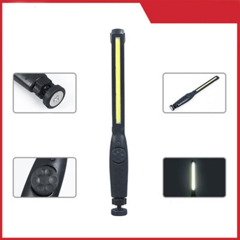 Портативный COB LED перезаряжаемые регулируемый светодиодный свет работы инспекционная лампа освещения гаража висячие лампы факел