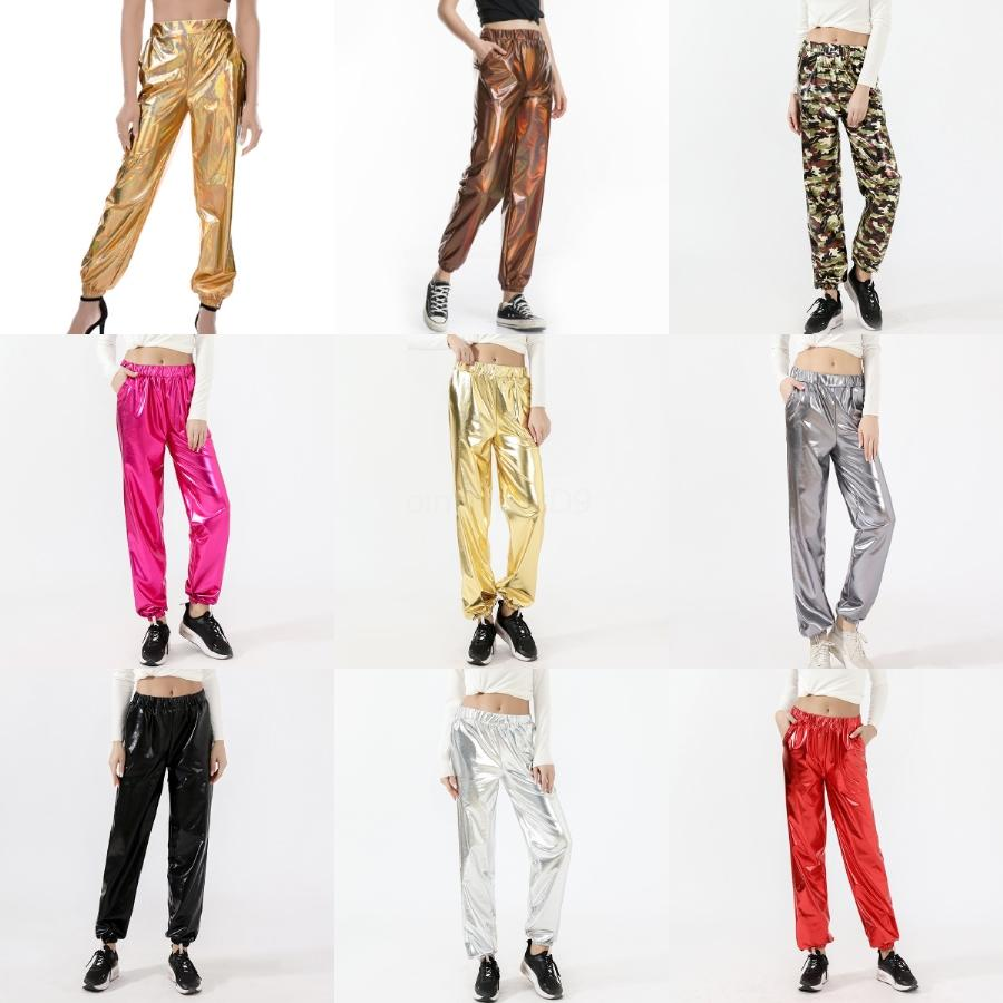 Pantolon # 593 Gym Fitness Kuru Hızlı Egzersiz Koşu İçin Toptan Kadın Giyim 2020 Kadınlar Spor Sıkıştırma Tayt Elastik Patchwork Pantolon