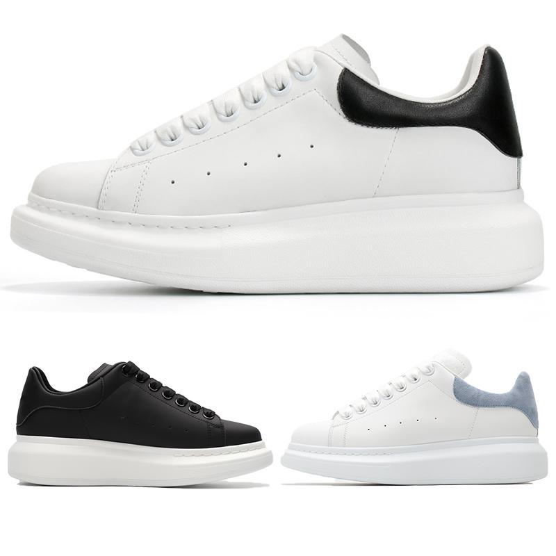 Plataforma quente sapatos da moda preto branco Homens de couro lace-up reflexivo pele de cobra real do ouro metálico cauda multi cor mulheres sapatilhas ocasionais