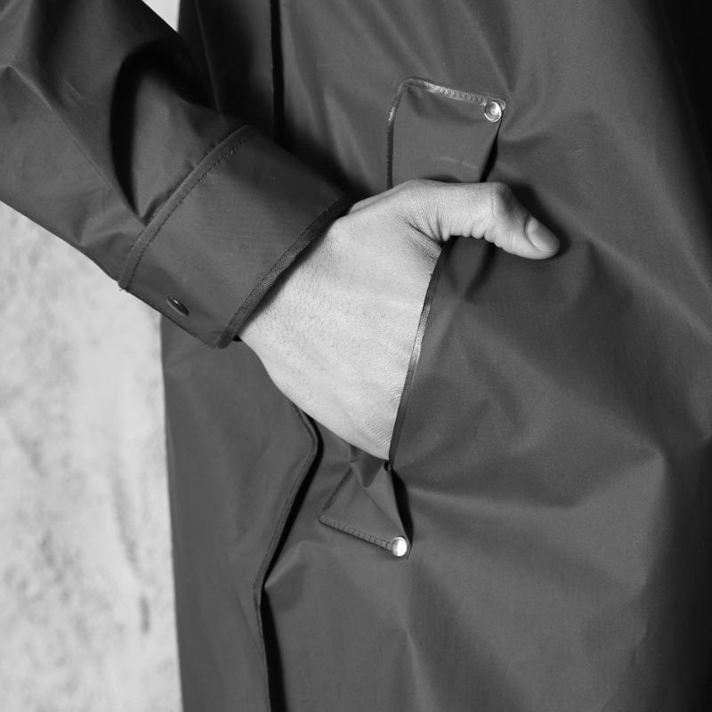 T3TkS casais br capa de chuva Edição alongado marca de moda preto wo Edição homens e mulheres casais fashion preto capa de chuva alongou