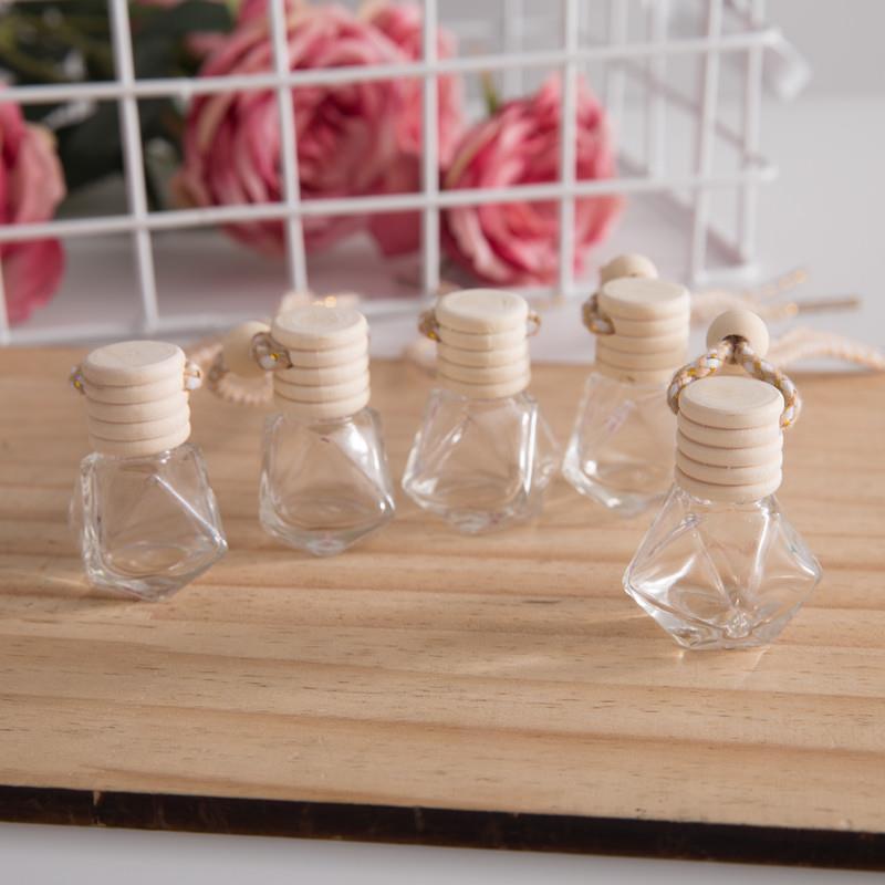Asılı cam şişe uçucu yağlar için hava spreyi konteyner kristal cam parfüm kolye araba parfüm boş şişe DLH454