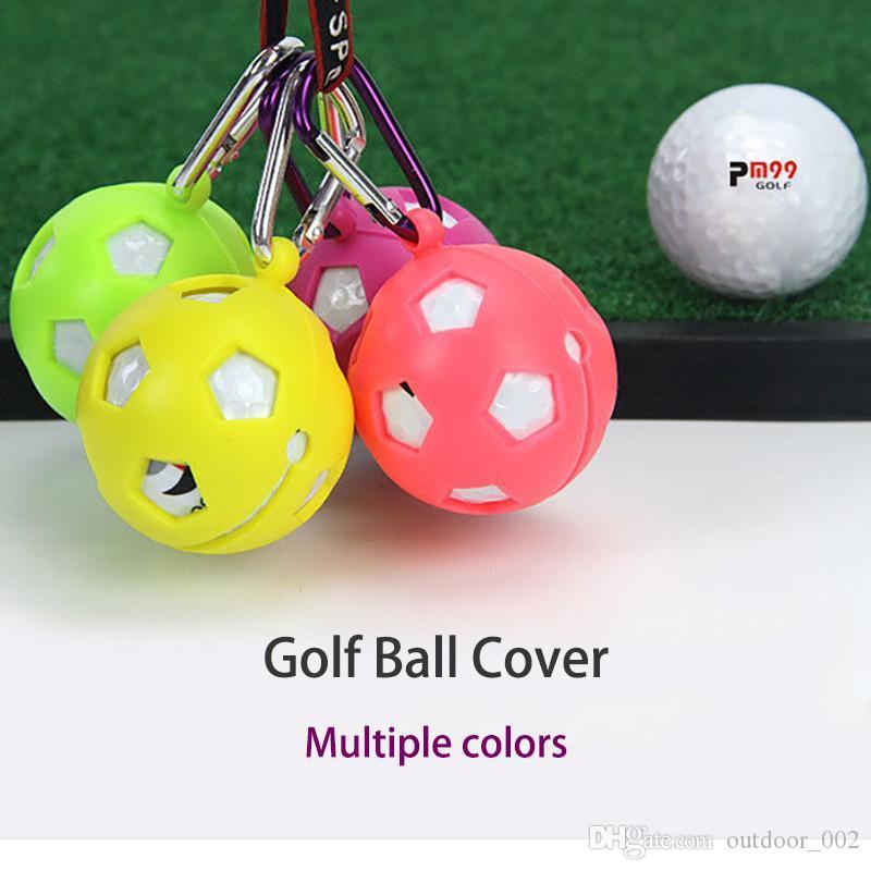 Golfballhalter Schutzhüllenset 1 Stück Golfball Silikon kann Hung auf dem Band Golfball Protektoren Zubehör Be