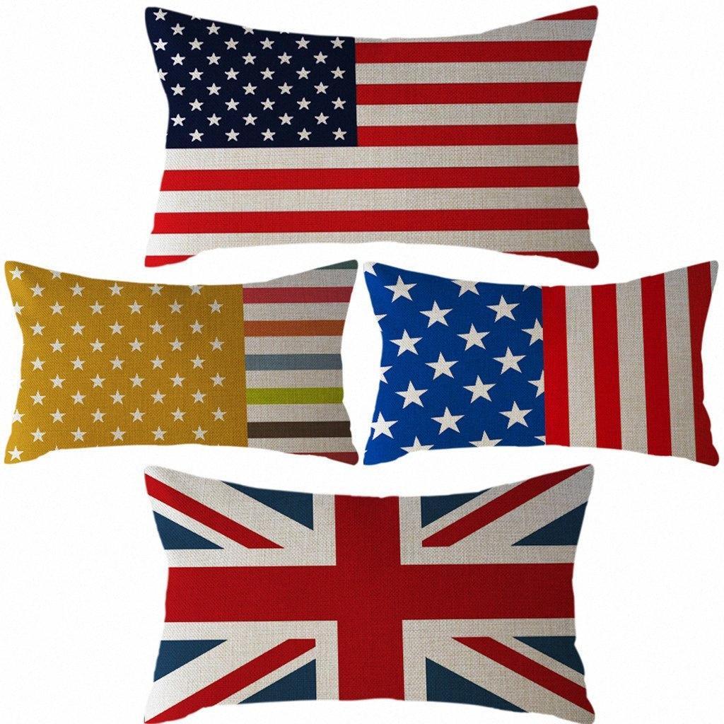 Подушка национальный флаг наволочка льняной 30x50cm Подушка Обложка Home Decor Cojines Decorativos Para Соф Декоративные подушки MJXM #