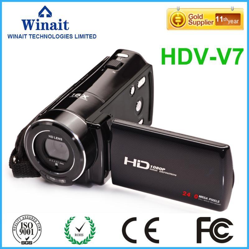 "2020 hot venda 24mp FHD 1080P câmera de vídeo profissional com controle remoto 16X zoom digital 3.0"" display LCD filmadora HDV"