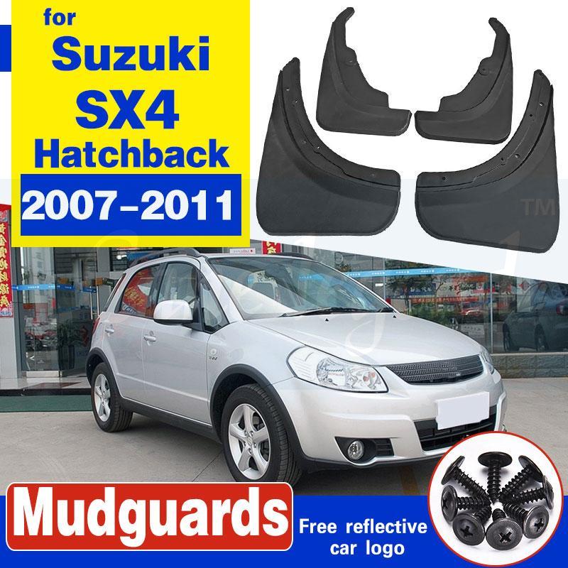 Lambeaux de boue de voiture pour Suzuki SX4 2007-2011 Crossover Crossover Crossover Guards Splash Guards Mud Faps Mudguards 2009 2011 2011 2012 2012