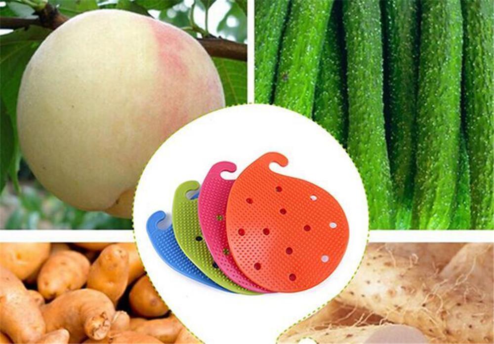 Salle à manger fruits pratique légumes Brosses Eco Friendly fruits Outils végétaux pour la cuisine PP Matériel