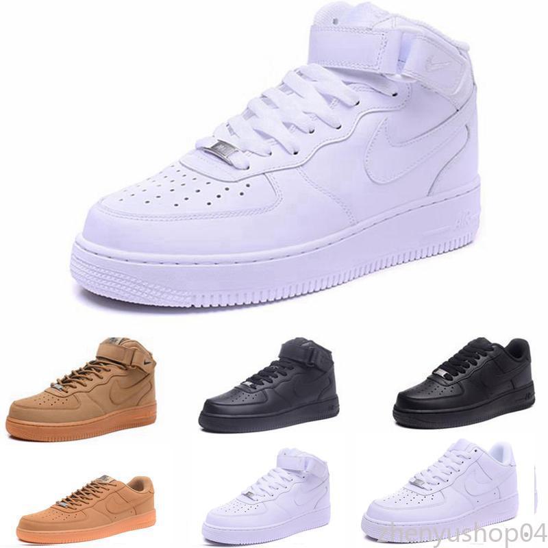 2020 Nuevas Fuerzas voltios zapatos corrientes de las mujeres para hombre de Formadores una se divierte el monopatín clásico 1 Verde Blanco Negro Guerrero zapatillas de deporte