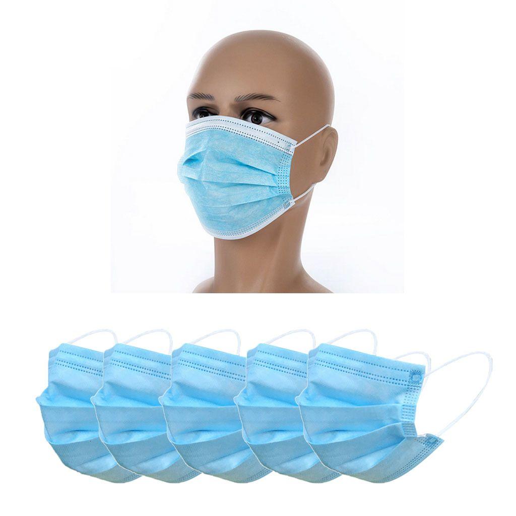 Máscaras desechables Mascarilla rosa Máscaras Mascherine fusión-soplado no tejidas tres capas de Lucha contra el polvo impermeable y transpirable buque rápido
