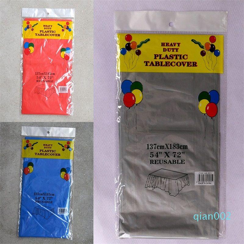 PE البلاستيك الجدول القماش القابل للتصرف الميلاد الحلوى مفرش أبيض أصفر رمادي اللون النقي مفارش المائدة حار 1 49zy L1