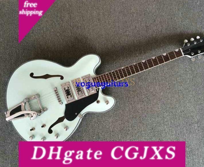 New White Jazz guitare électrique 3 micros haute qualité Livraison gratuite.