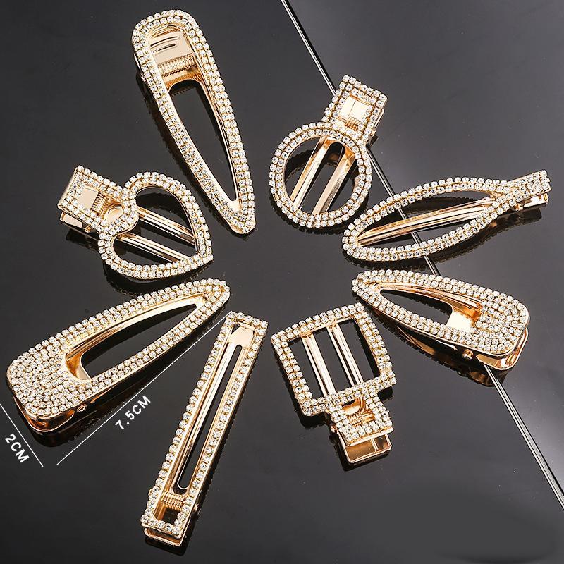 Strass cristal pinces à cheveux en métal avec des mots pour les femmes épingles à cheveux cheveux cheveux pinces femmes accessoires