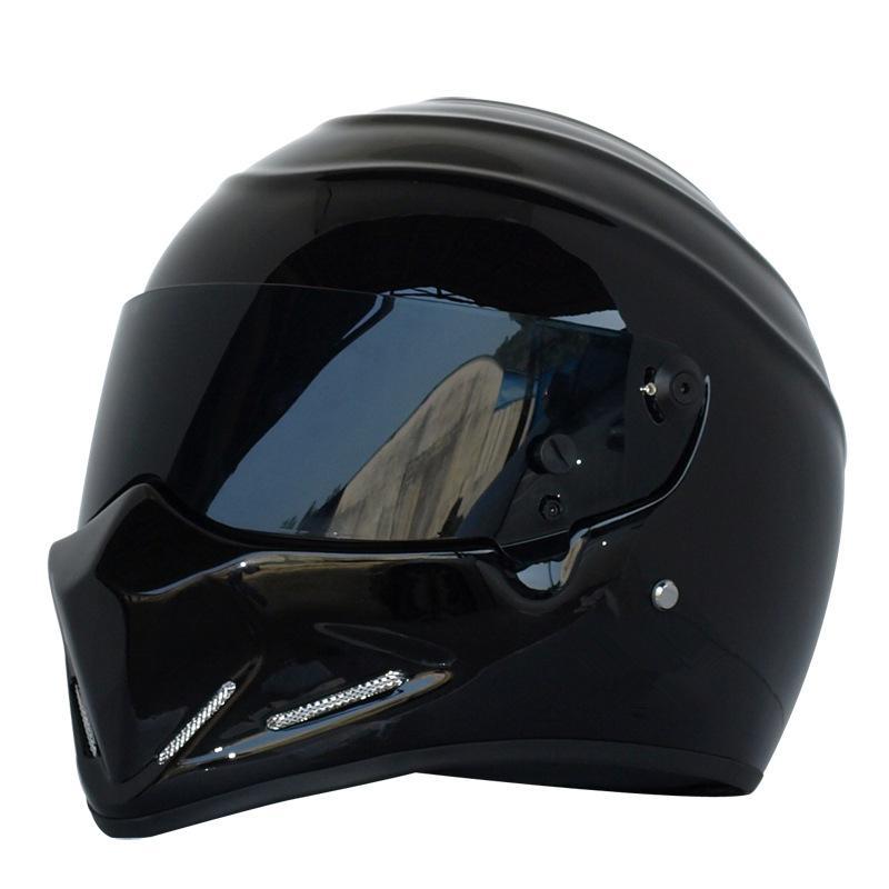 Approuvé DOT Casque de moto REFROIDIR Équitation Noir Plein Casque Moto course sur route pour les hommes et les femmes