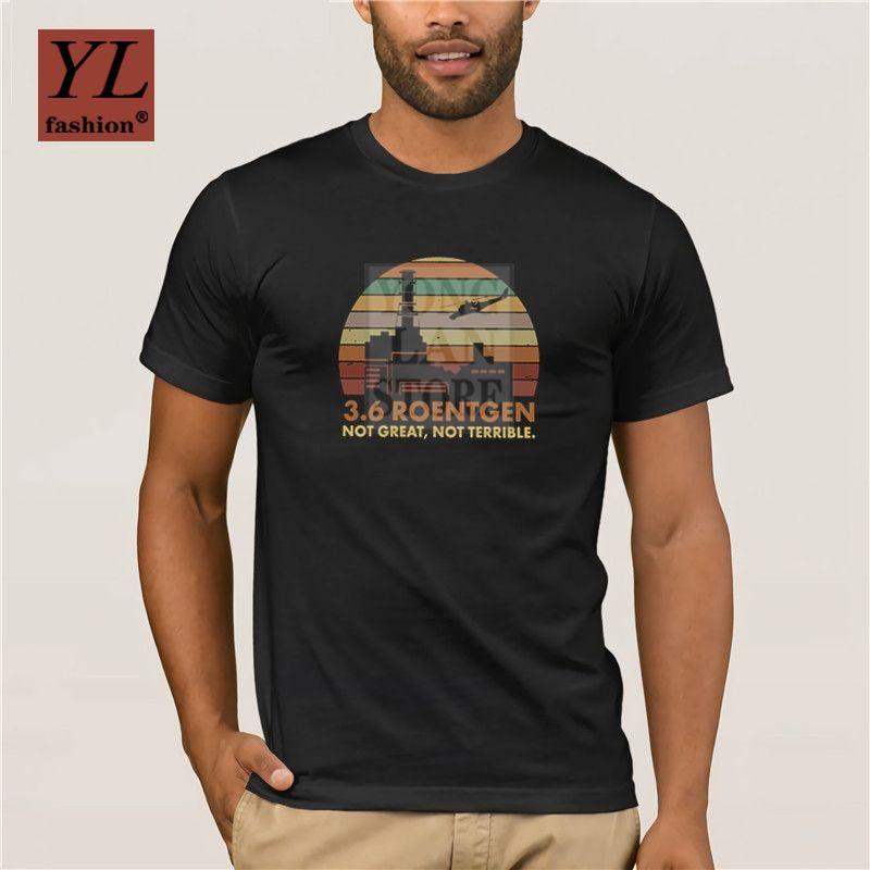 2020 homens da forma camiseta Roentgen Not Great Not Terrible T Shirt Chernobyl Mostrar Tops Nuclear