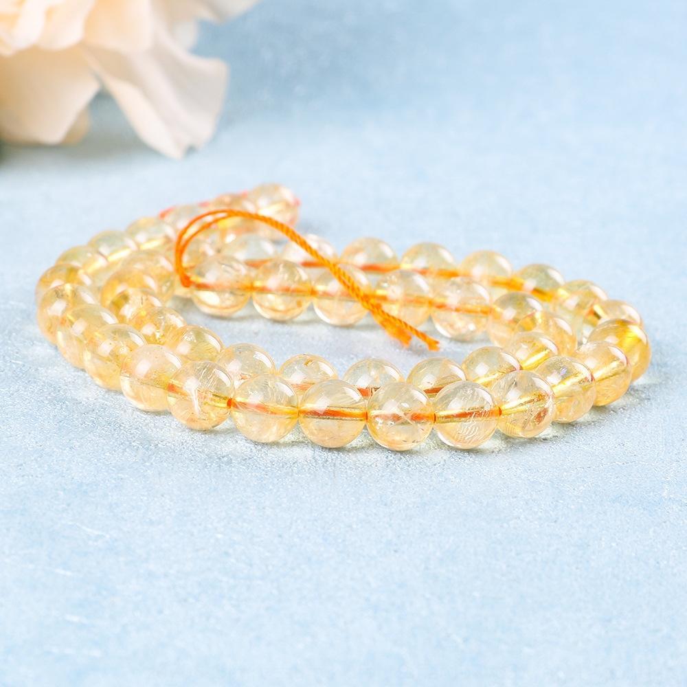palomitas naturales hongyuan los granos amarillos y accesorios de bricolaje DIY cristal de cristal de color amarillo productos semiacabados
