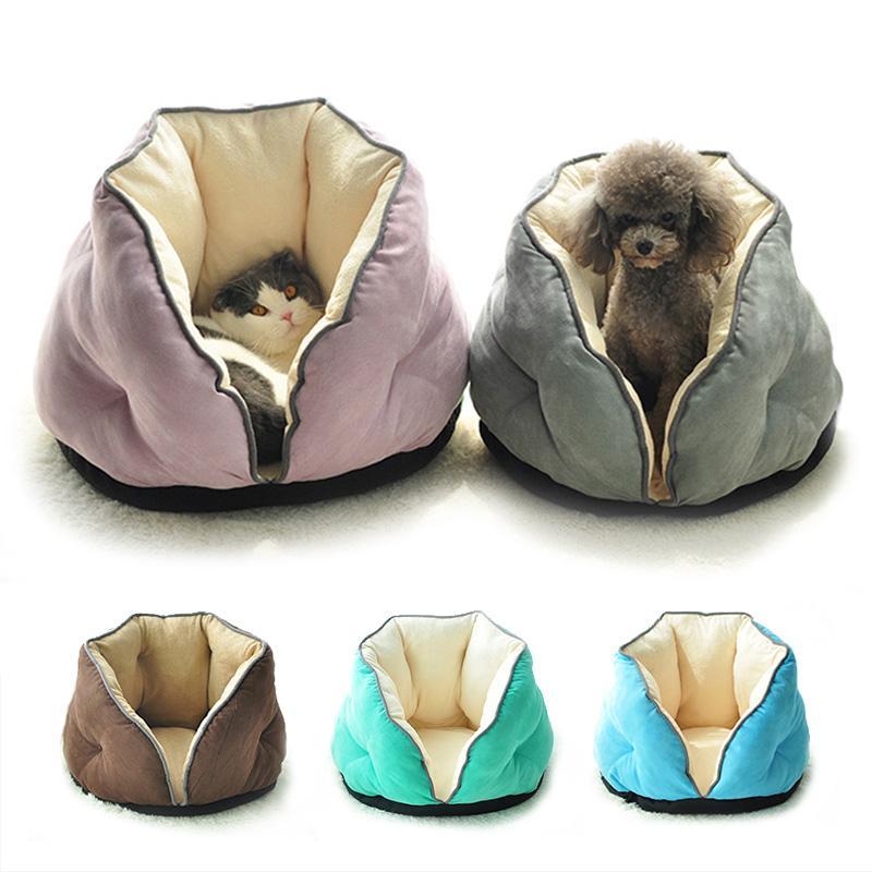 Warm Dog Bed gatto del nido Pet Dog House Divani circondato Kennel morbido cotone Coperta in pile per il cucciolo del gatto del Four Seasons Utilizzando