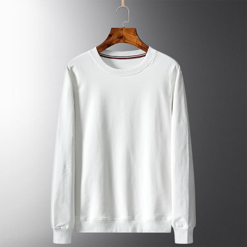 F9Xfc Primavera maglione colore solido base superiore Top maglione alla moda semplice girocollo Maglietta a maniche lunghe abbigliamento czgtY uomini allentati casuali della camicia