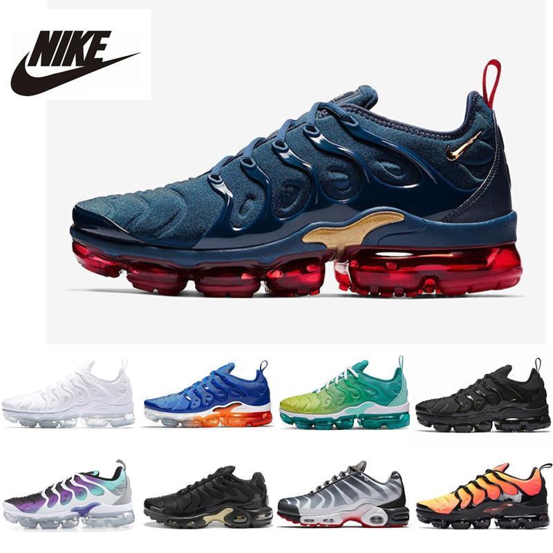 Mavi Üçlü Siyah Beyaz Gerileme Gelecek chaussures eğitmen zapato Spor ayakkabı 40-46 mens koşu ayakkabıları artı se erkek 2020 Yeni tn