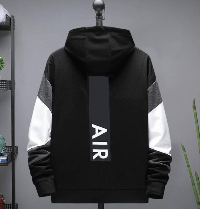 2020 chaquetas deportivas activas para hombres letras de impresión Sudaderas con capucha Sudaderas Homme Hombre chaqueta abrigo con cremallera 2 colores Tallas grandes L a 5XL