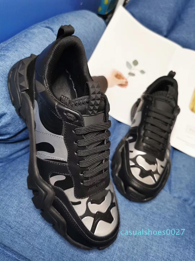 bağbozumu baba Ayakkabı C27 Ayakkabı 11 çalıştıran antrenör Dağcı Rockrunner Kamuflaj sneaker Dana derisi deri kadınların erkeklere sneaker sNew Tasarımcı