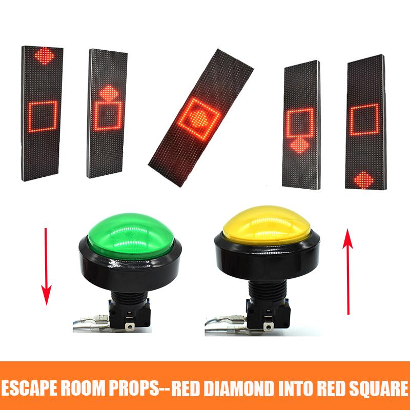 Alarm Sistemleri Kaçış Odası Sahne Control 12 V Elektronik Manyetik Kilidi Kilidini Açmak için bir süre Kare Kırmızı Pırlanta Tutun