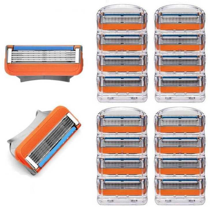 في المخزون نوعية جيدة المحمولة ناحية ماكينة حلاقة رئيس ماكينة حلاقة ماكينة حلاقة القاطع رئيس استبدال 4pcs / lot دليل ماكينة حلاقة ماكينة الحلاقة خمسة طبقة شفرة الشفرة اليدوية