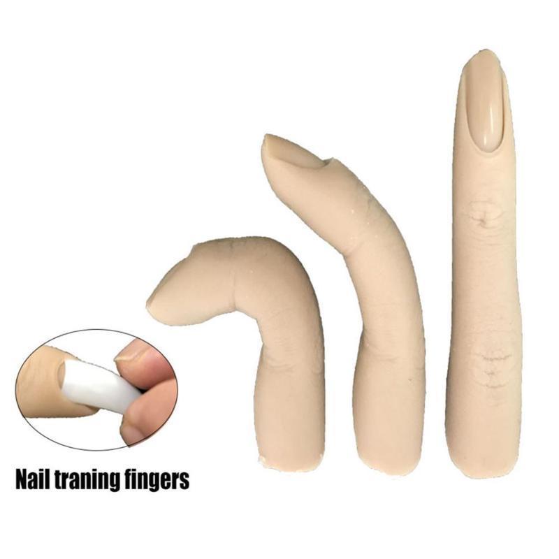 False Nails Professional Поддельные ногтя арт наука пальцев практика маникюр тренировочный гель польский дисплей инструменты пластиковый акрил