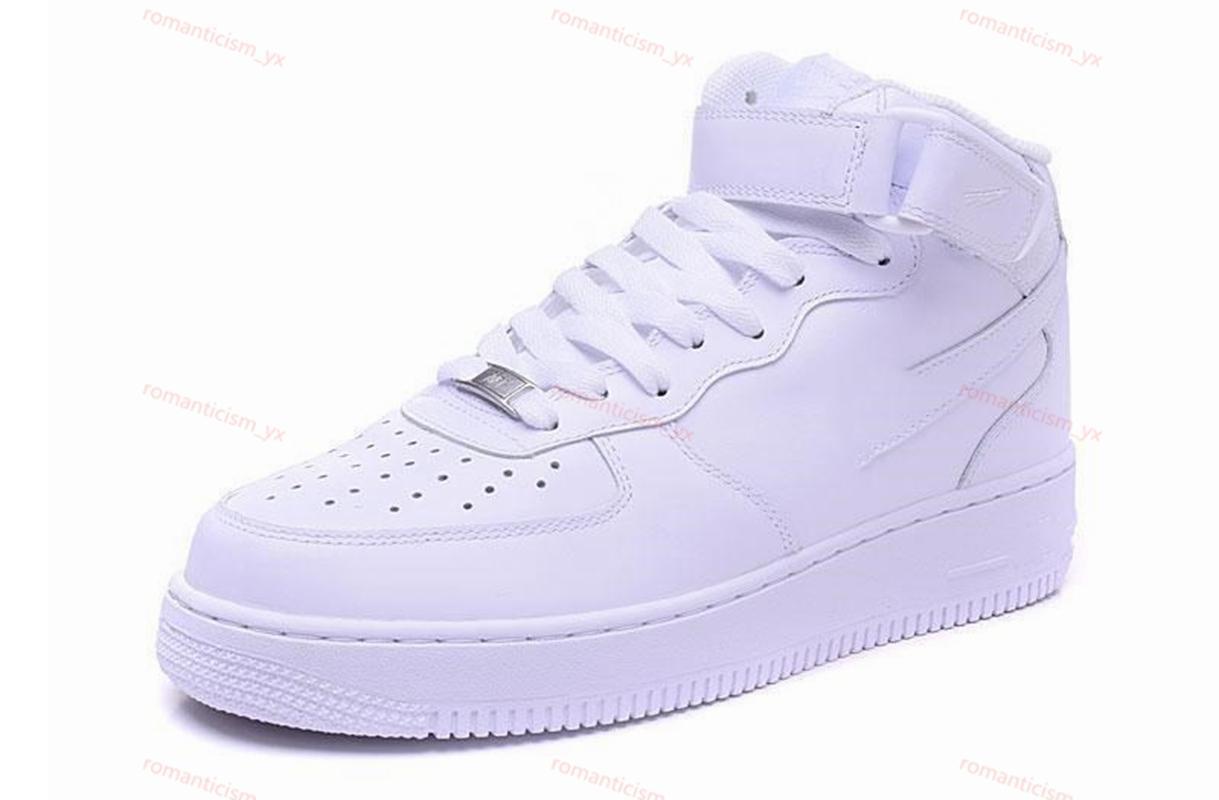 Nike Air Force 1 2020 Hot LIÈGE pour les hommes et les femmes de haute qualité One 1 Chaussures occasionnels Low Cut Tous Blanc Couleur Noir Taille extérieur Sneakers Casual 36-45