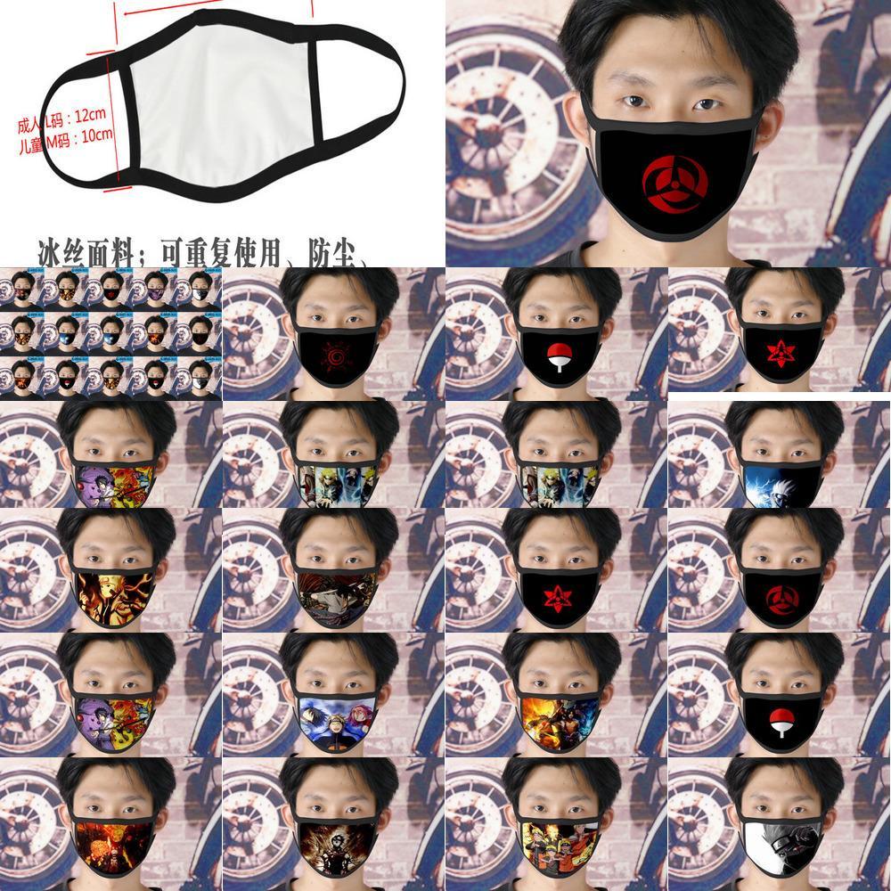 Genç Tapabocas Karikatür Yüz için Cubrebocas Tasarımcı Yeniden kullanılabilir 17 Viz Naruto Xhhair Grwvw Maske