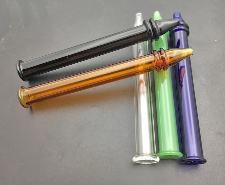 las mini DAB tuberías de paja consejos Collector fumar tubo del quemador de aceite de cristal de tubo Lenguados plataformas petrolíferas cachimbas