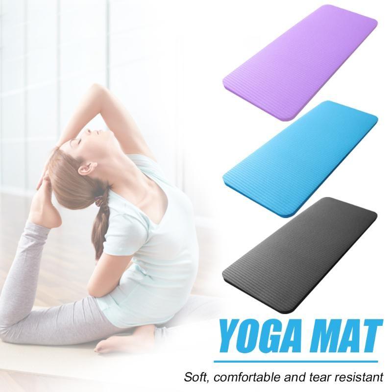 60 X 25 cm 1,5 cm Espesar yoga estera de la aptitud del entrenamiento del ejercicio de Pilates Yoga Mat NBR Deportes Rodilla Codo Pad ejercitador Equipamientos