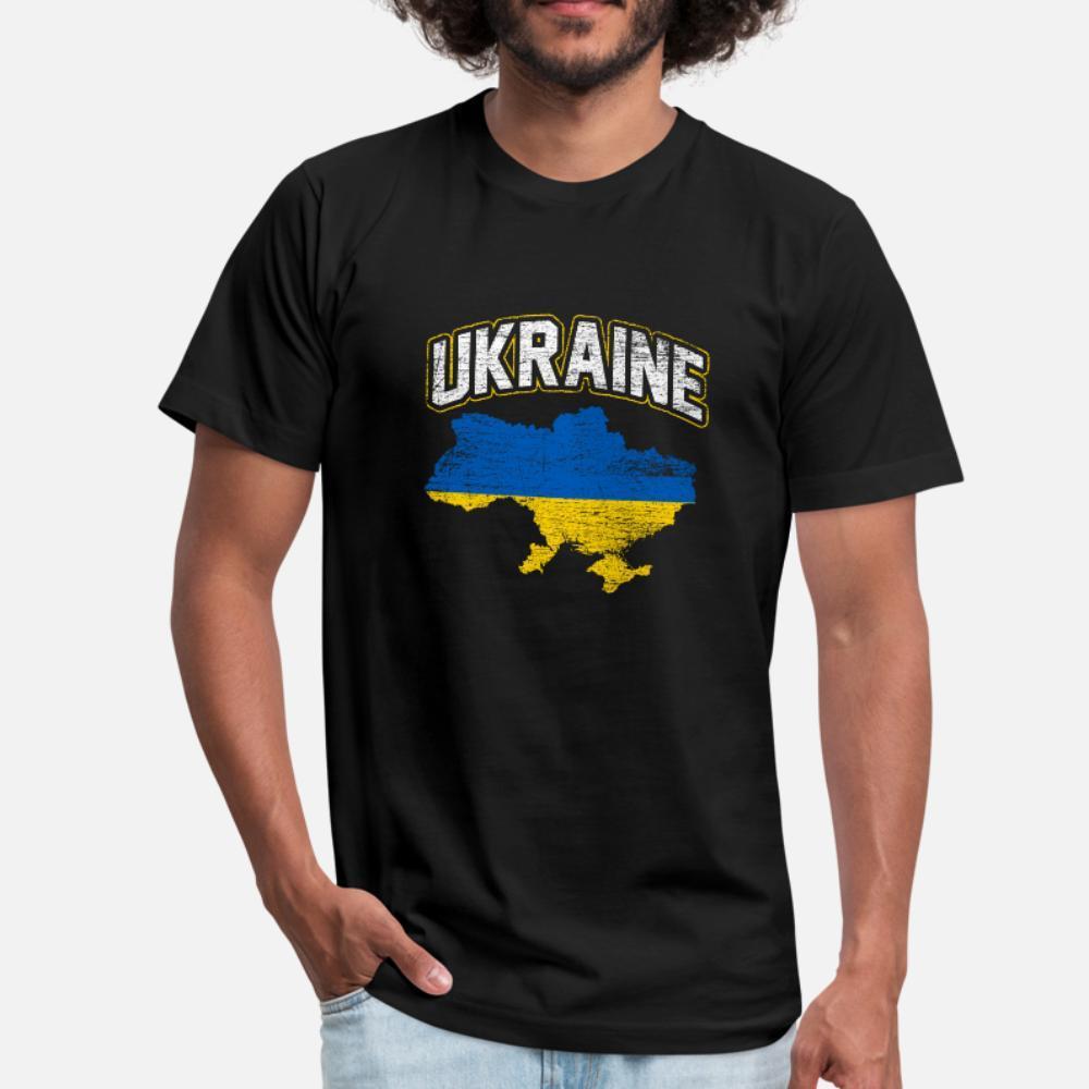 Ukraine Geschenk Land Region Europa Kiew T-Shirt Männer-Entwurf T Shirt Runde Kragen Fit Fit Basic-Sommer-Art Kawaii Hemd