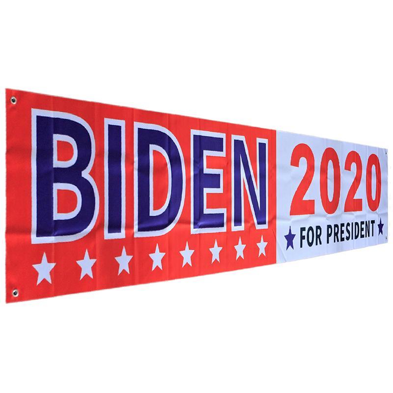 DHL Joe Biden Bandiere 2020 il presidente degli Stati Uniti Bandiera campagna del Partito Banner Flag 48 * 250cm Biden Elezione Bandiera 4 stili DHA1087