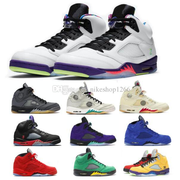 Off Jumpman 5 5s Alternate Grape Bel Men Basketball Shoes What The Fire Red Suede Sail Oregon Top 3 Women Tennis Trainers Sneakers