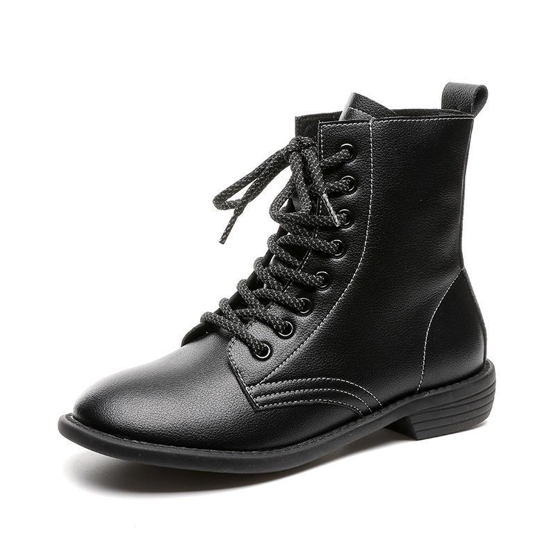 2020 Nouveau femme Bottes femmes en cuir véritable Chaussures Automne Hiver Femmes cheville moto