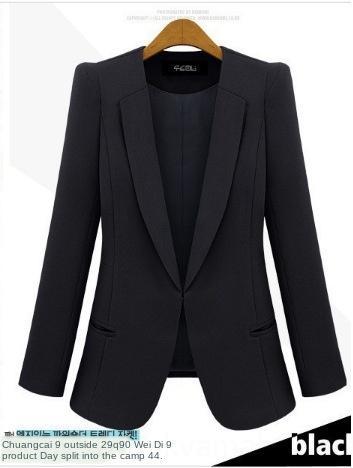 YLq1g OXTwA 2019 delle donne vestiti di autunno e New pendolari inverno slim fit giacca blu e nera piccola giacca per le donne