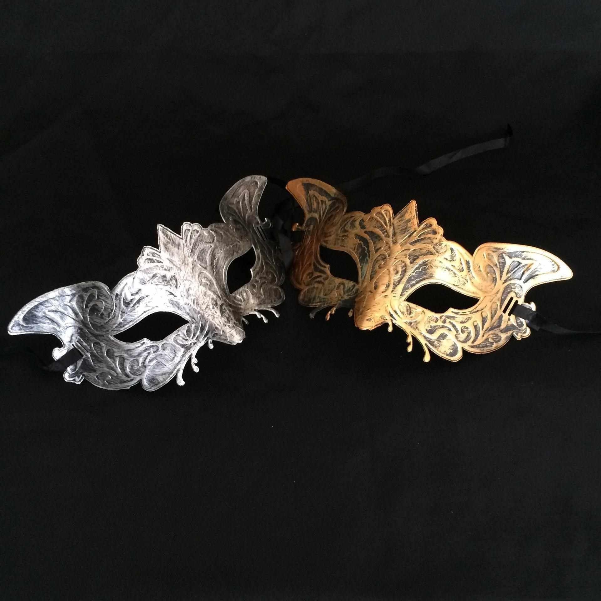Máscara Máscaras de prata Party And ouro Cores disponíveis Dia das Bruxas mais retro Gras Masquerade Crianças Mardi Homem Mulher qpufY mywjqq