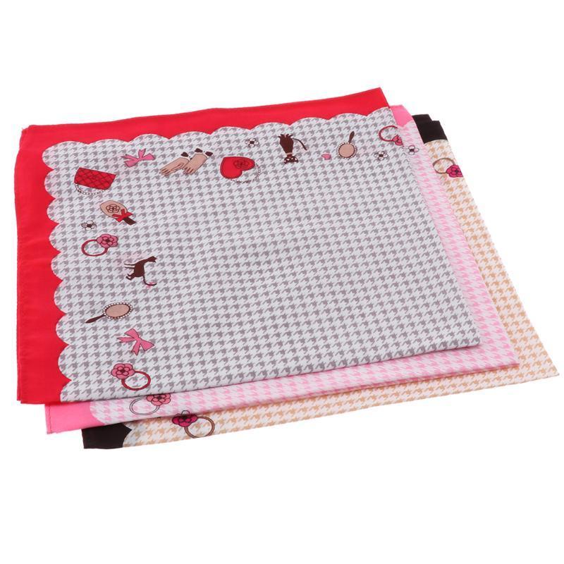 3 HandkerchiefsGirls PCS para mujer floral de la vendimia banquete de boda de pañuelos de algodón lindo algodón Pañuelos 28 x 28cm