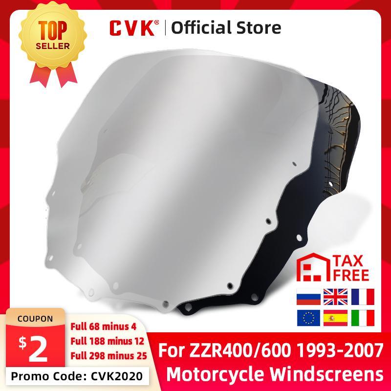 Parabrisas CVK motocicleta parabrisas para ZZR400 ZZR600 ZZR 400 600 1993 1994 1995 1996 1997 1998 1999 2000 2001 a 2007