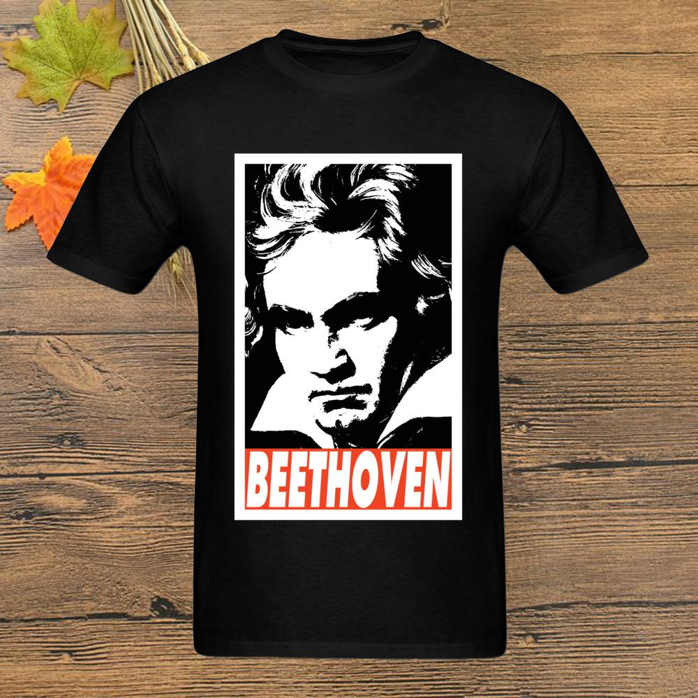 Музыкант Бетховен Tee Shirt Men T-Shirt 2020 Горячая продажа T-Shirt Art Printed Black Top Streetwear Дизайн хип-хоп моды