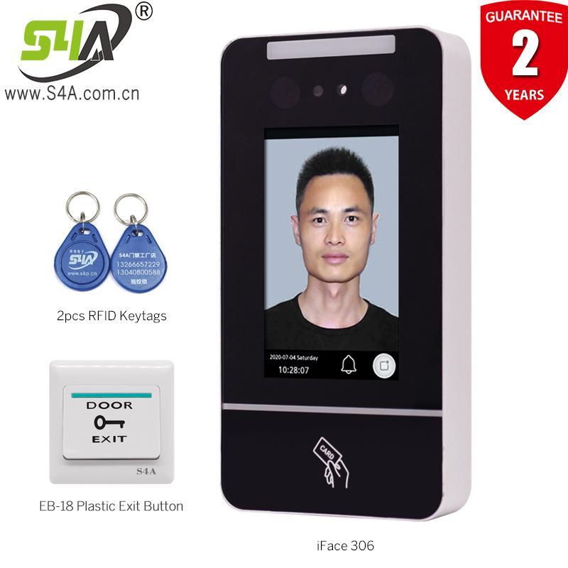 Sistema de reconhecimento facial S4a 4 polegadas RFID RFID Access Access Abridor de porta com função de atendimento ao tempo para apartamento em casa