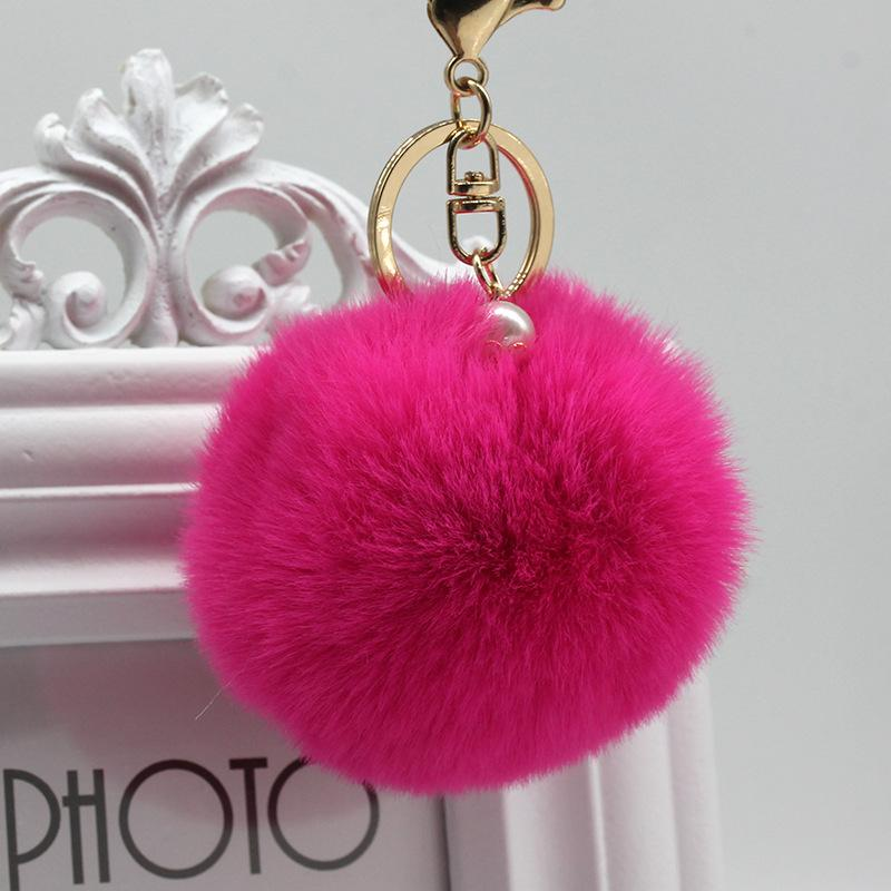 Pearl colors keychain
