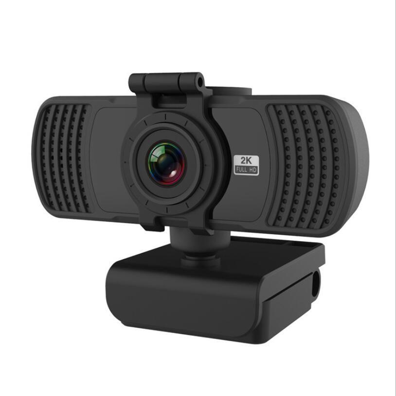 웹캠 HD 2K 울트라 클리어 컴퓨터 카메라 USB 드라이버 - 무료 라이브 카메라 4MP 2MP 내장 마이크 개인 정보 보호 커버 웹 캠