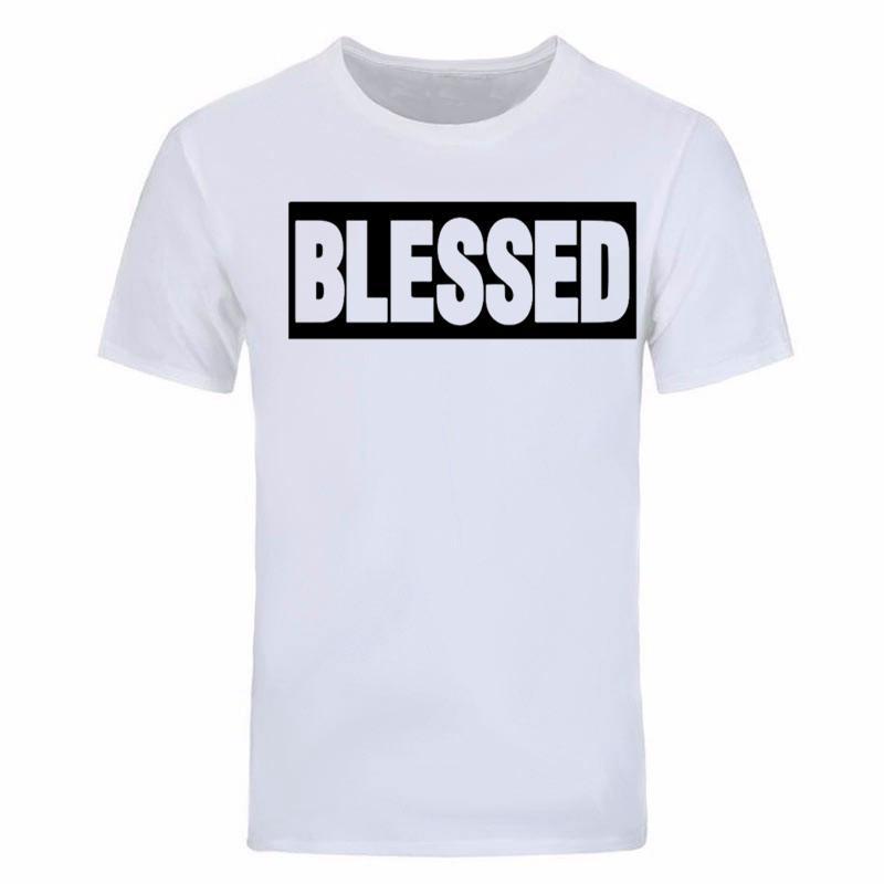 2020 nuevo de la manera de la manga de impresión Dios corto de hombres bendito por los hombres del algodón t-shirt camiseta