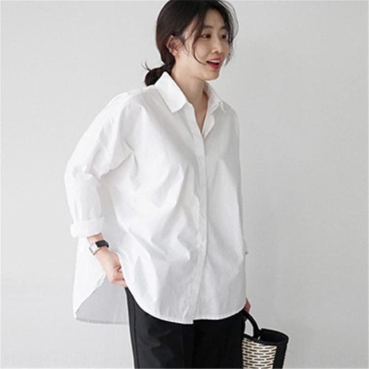 QXH1Q 87.092.019 nuova primavera bottoming chic camicia bianca stile coreano stile moda bianco della camicia delle donne