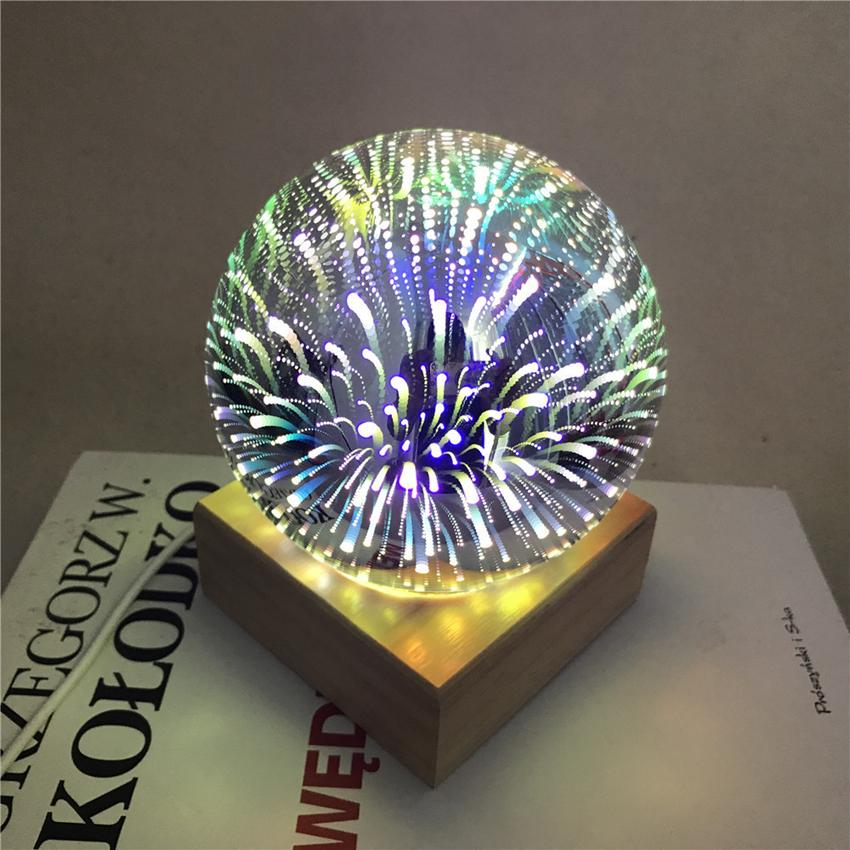 Magic Ball Colorful glass ball lamp 3d Starry Sky Star Butterfly Night light kids Bedroom Decoration Christmas light gifts GGA3711
