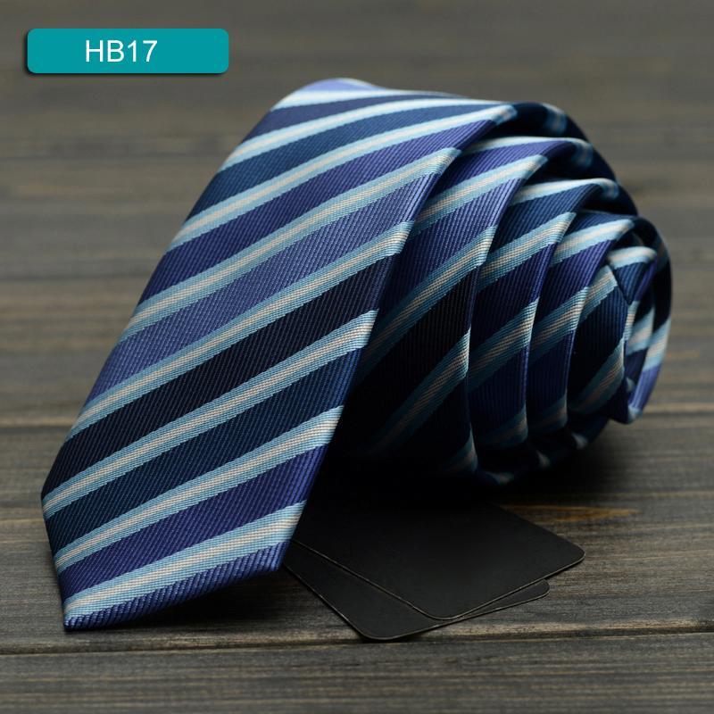 2020 Новая мода Дизайнерская марка 5CM Тонкие галстуки для мужчин Синий Полосатый Бизнес Галстук дипломная работа партии вскользь мужские Галстуки 17