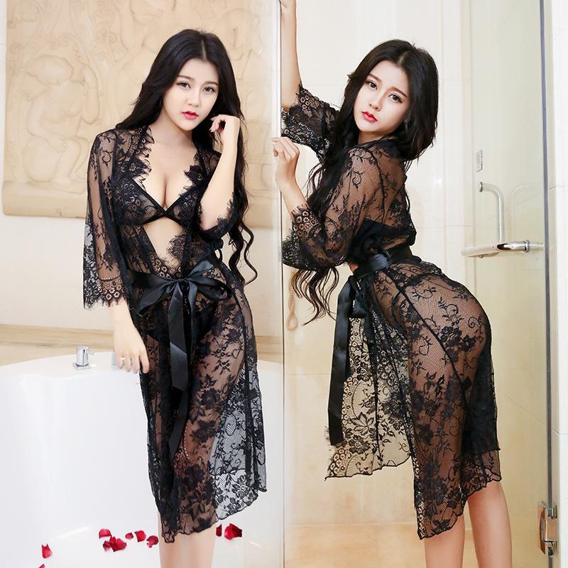 Лидирующий сексуальное женское белье искушение 2016 новый летний костюм пижамы кружева европейской и американской ночной рубашке 1041
