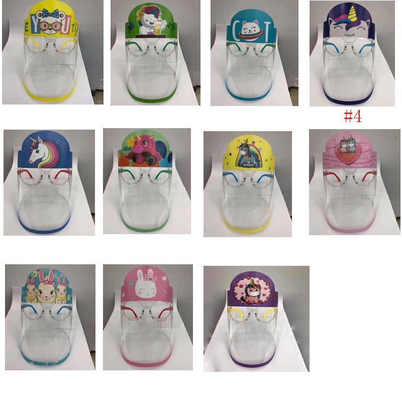 Haustier Kinder Cartoon Gesicht Schild mit Brille Rahmen Chiden Schutzmaske Vollgesicht Haustier Anti-Nebel Isolation Maske Visier Meer Versand IIA614 Bujl