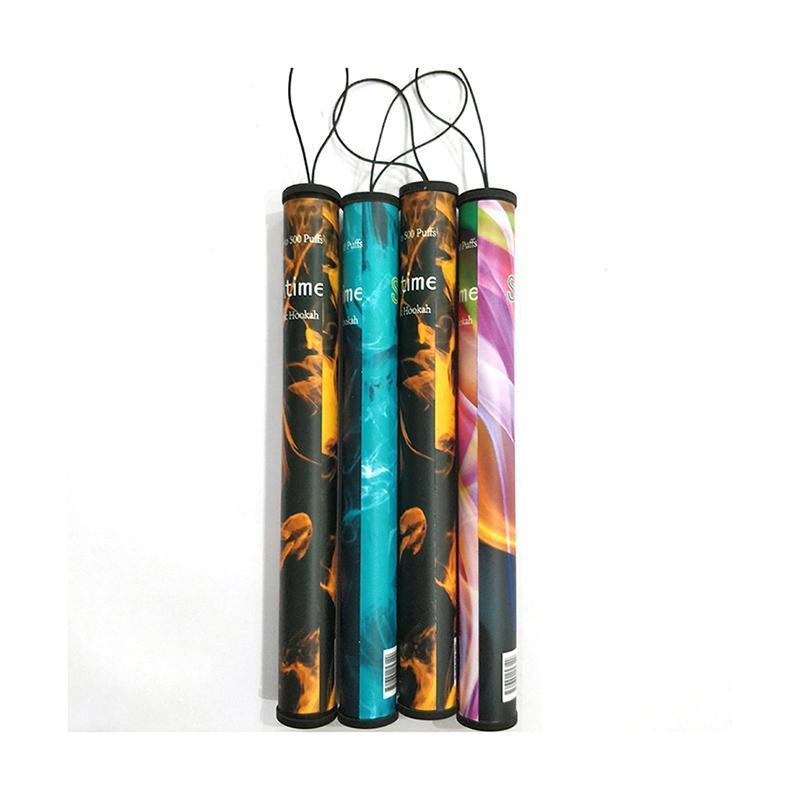 2020 Mais recente cigarro Sticks Shisha Tempo E Hookah 500 Puffs Cachimbo caneta eletrônica Shi sha Hookah bar sopro descartável