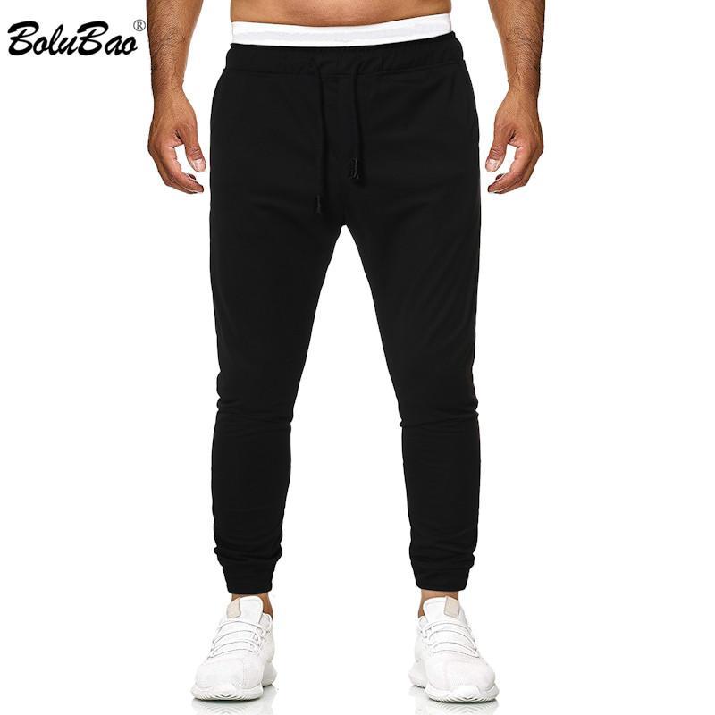 BOLUBAO Sonbahar Yeni Erkekler Günlük Pantolon Moda Marka Erkek Yüksek Kalite İpli Pantolon Spor Siyah Sweatpants Erkek
